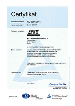ISO 9001:2015 SYSTEM ZARZĄDZANIA JAKŚCIĄ